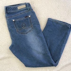Seven  7 Luxe Slim Boot Blue Stretchy Jeans